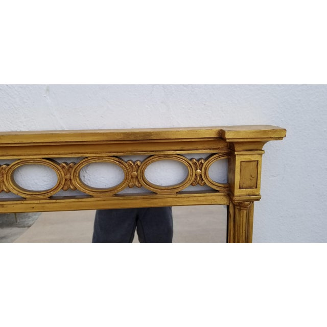 1970s 1970s Hollywood Regency John Widdicomb Gold Carved Wood Wall Mirror For Sale - Image 5 of 11
