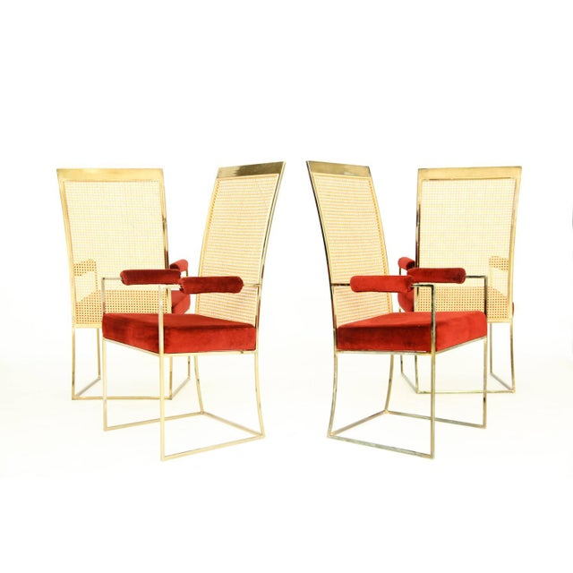 Thayer Coggin Set of Milo Baughman Curved Back Dining Chairs For Sale - Image 4 of 10