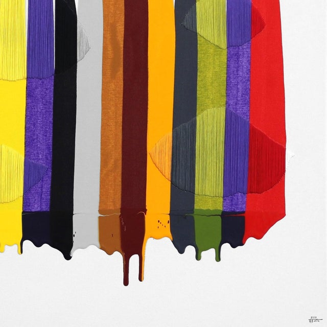 "2010s ""Fils I Colors Cccxcii"" Original Artwork by Raul De La Torre For Sale - Image 5 of 9"
