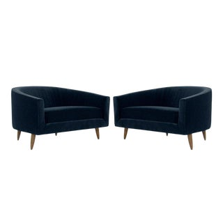 Adrian Pearsall for Craft Associates Cloud Lounges in Mohair - a Pair For Sale