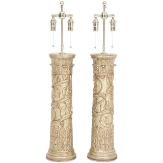 Pair of James Mont Lamps For Sale
