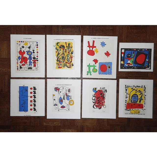 Mid 20th Century Vintage Modernist Abstract Lithographs-Joan Miro-Set of 8 For Sale - Image 5 of 5