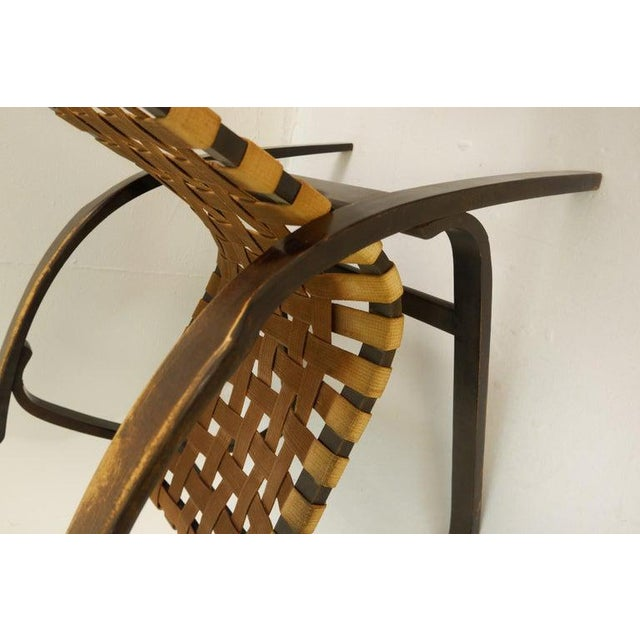 Wood Pair of Bentwood Armchairs by Jan Vanek for Up Závody, 1930s For Sale - Image 7 of 9