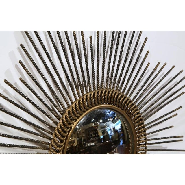 1920s Early 20th Century French Sunburst Mirror With Antique Bronze Finish For Sale - Image 5 of 9