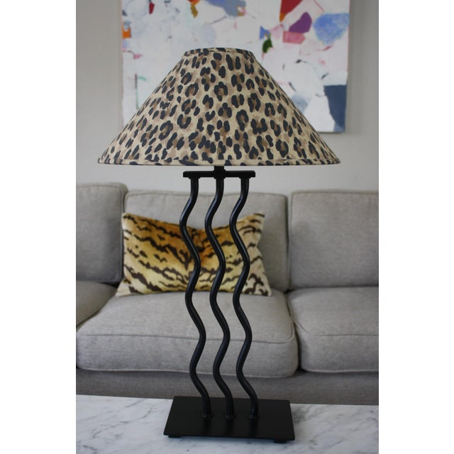 1980s Wave Memphis Style Table Lamp For Sale - Image 12 of 12