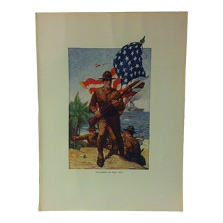 "Vintage American Maritime Ship Color Print, ""Soldiers of the Sea"", Frederick A. Stokes Co., 1926 For Sale"