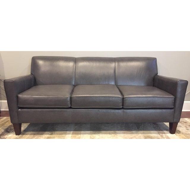 England Company Dark Gray Leather Sofa - Image 2 of 3