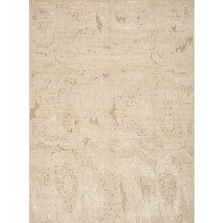 Schumacher Patterson Flynn Martin Moire Hand-Woven Wool Modern Rug - 9' X 12' For Sale