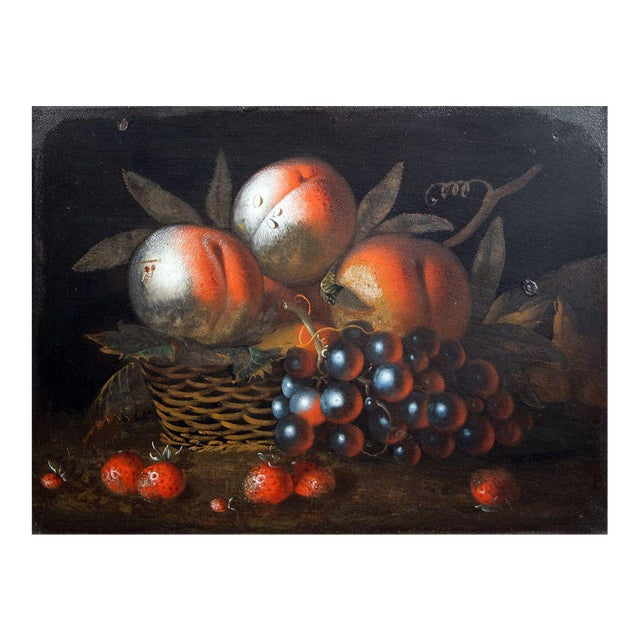Early 19th-century Tole Still Life Picture For Sale