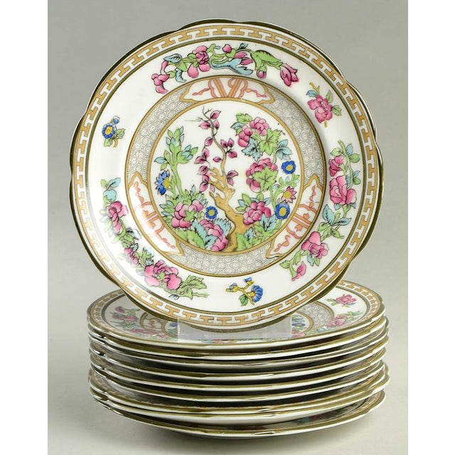 Ceramic Paragon Indian Tree Plate - Set of 10 For Sale - Image 7 of 7