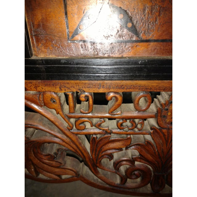 Asian Pettagama 1920 Mahogany and Ebony Dowry Chest For Sale - Image 3 of 12