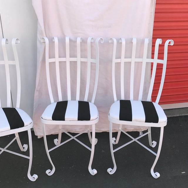 Vintage Metal Outdoor Chairs - Set of 4 - Image 4 of 11