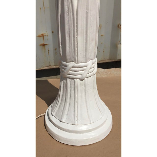 Serge Roache Style Plaster Floor Lamp For Sale - Image 6 of 7