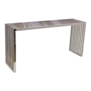 Chrome Console Table by Eichholtz For Sale