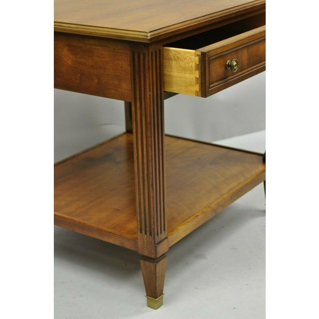 Kindel Furniture 20th Century French Kindel Belvedere 1 Drawer Cherry Lamp Side Table For Sale - Image 4 of 12