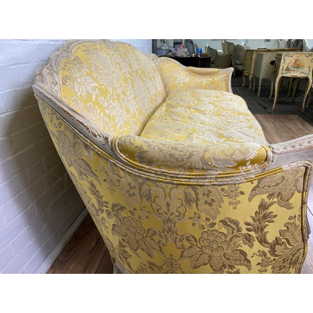 1930s Antique Victorian French Louis XV Style Couch For Sale In Providence - Image 6 of 13