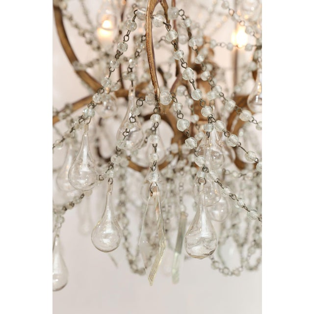 Metal Early 20th Century Italian Chandelier For Sale - Image 7 of 8
