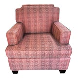 Image of Custom Upholstered Club Chair For Sale