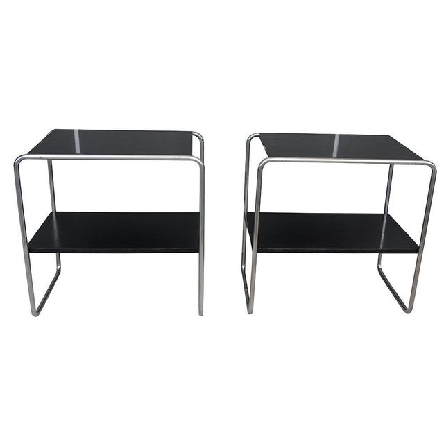 Early 20th Century 20th Century Marcel Breuer Bauhaus Console Tables - a Pair For Sale - Image 5 of 5