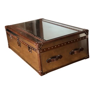 Restoration Hardware Mayfair Steamer Trunk Coffee Table