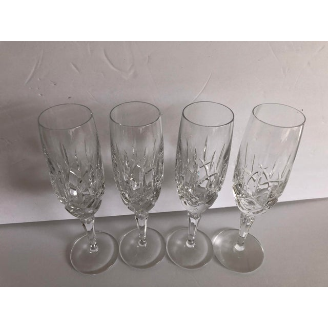 Gorham Modern Crystal Fluted Champagne Glasses S-4 For Sale In New York - Image 6 of 8