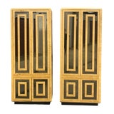 Image of Stunning Vintage Rohmweber Burled Wood Armoires-A Pair For Sale