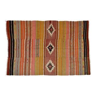 Vintage Turkish Multicolor Wool Rug - 5′4″ × 7′11″