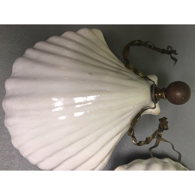 Nautical Hart & Associates Ceramic Wall Sconces - A Pair For Sale - Image 3 of 8