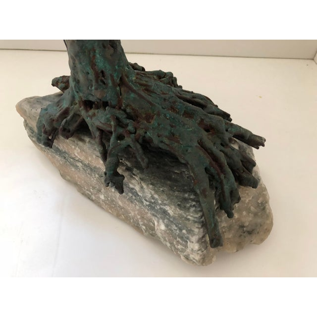 Contemporary 1960s Brutalist Bronze Tree Sculpture For Sale - Image 3 of 7