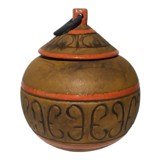 Italian Terracotta Pot With Lid For Sale