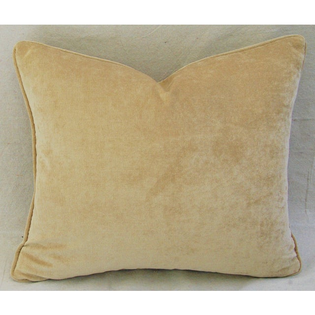 """Cotton Custom Tailored Antelope Fawn Spot Velvet Feather Down Pillows 21"""" X 18"""" - Pair For Sale - Image 7 of 12"""