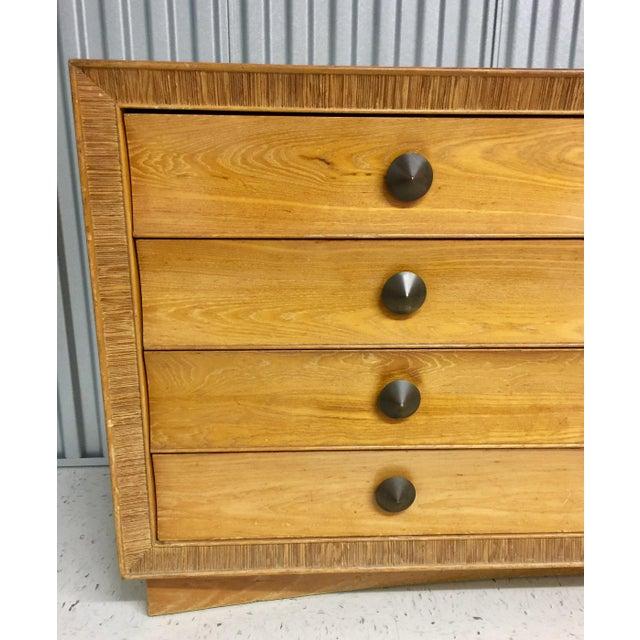 Glass Paul Frankl for Brown Saltman Dresser & Mirror For Sale - Image 7 of 13