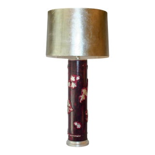 Antique Wall-Paper Roller Lamp For Sale