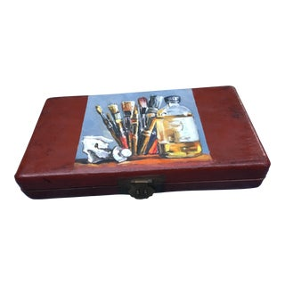 Chinese Red Lacquer Art Box For Sale
