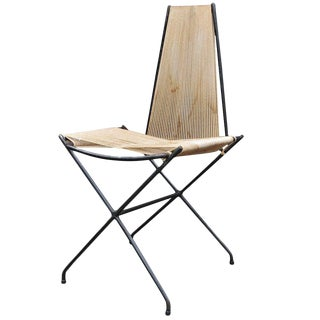 Rare Low Production Iron Rod String Chair by Detroit Modernist Architect For Sale