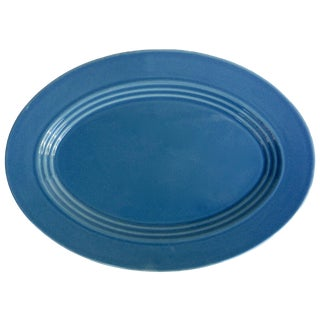 Blue Oval Serving Platter