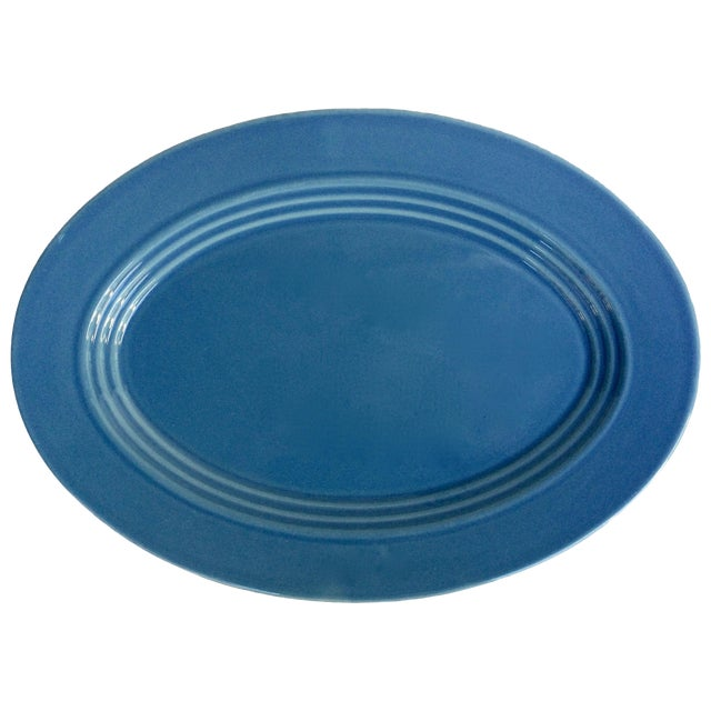 Blue Oval Serving Platter - Image 1 of 5