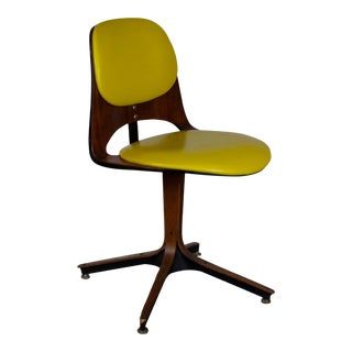 1950s Vintage Plycraft Swivel Desk Chair For Sale