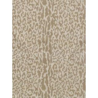 Sample, Scalamandre Snow Leopard, Winter White Fabric For Sale