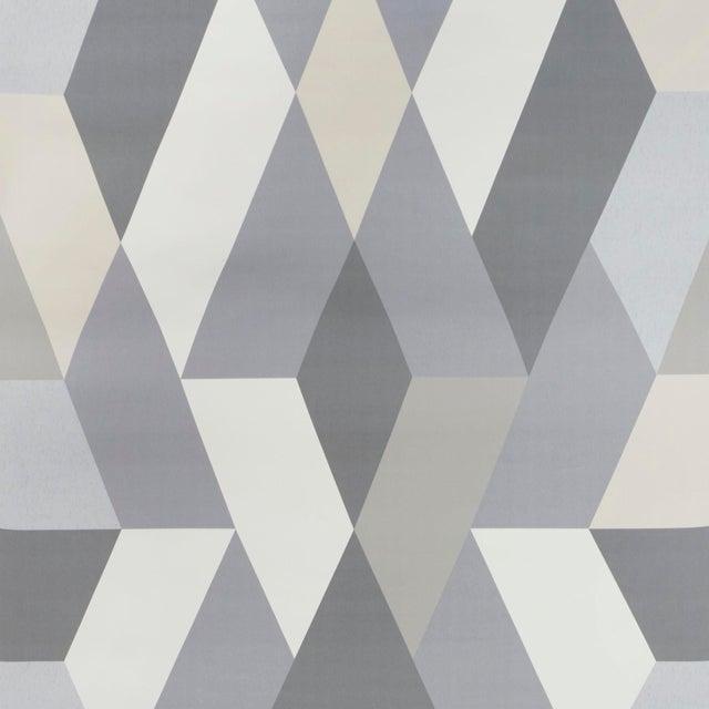 Schumacher X Clements Riberio Deco Diamonds Wallpaper in Dove For Sale