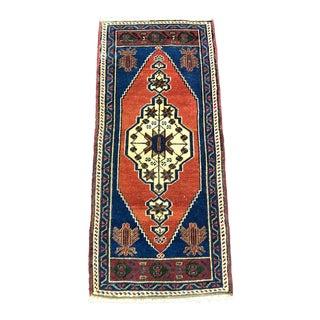 Turkish Anatolian Antique Decorative Small Rug - 1′7″ × 3′6″ For Sale