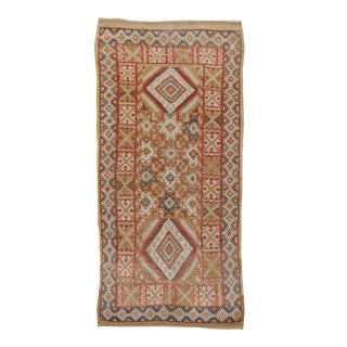 "Vintage Tan Moroccan Rug - 3'6"" X 7'4"" For Sale"