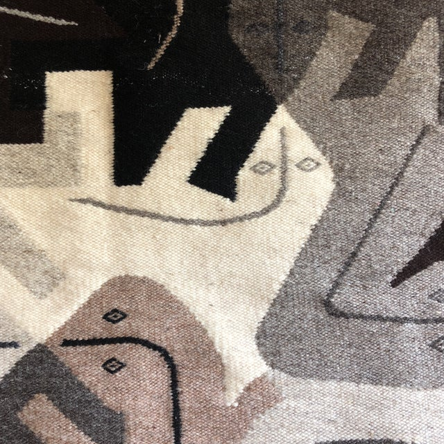 Modern 1980s Modernist Reptile Handwoven Tapestry For Sale - Image 3 of 11