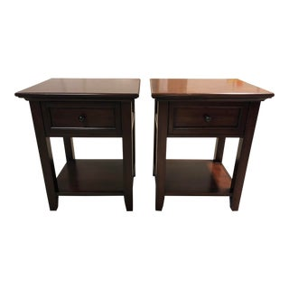 Pottery Barn Hudson 1- Drawer Nightstands, a Pair For Sale