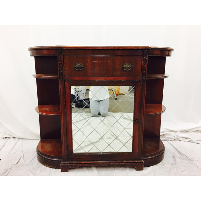 Vintage Mahogany Mirrored Console Chest - Image 2 of 11