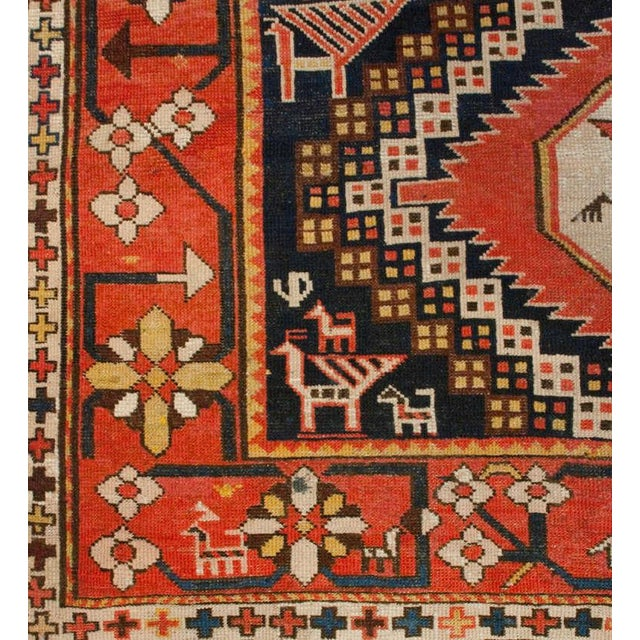 "Islamic Early 20th Century Karabagh Rug - 54"" x 113"" For Sale - Image 3 of 6"