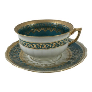 Cappodimonte Porcelain Coffee Cup and Saucer