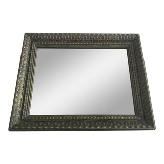Gray and Gold Framed Mirror For Sale