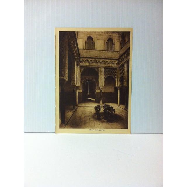 "Circa 1915 ""Alcazar of Seville, Spain"" the Mentor Association Print For Sale - Image 4 of 4"