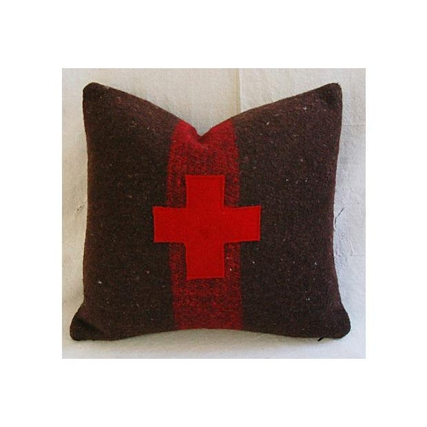 Swiss Appliqué Red Cross Wool Pillow - Image 5 of 7